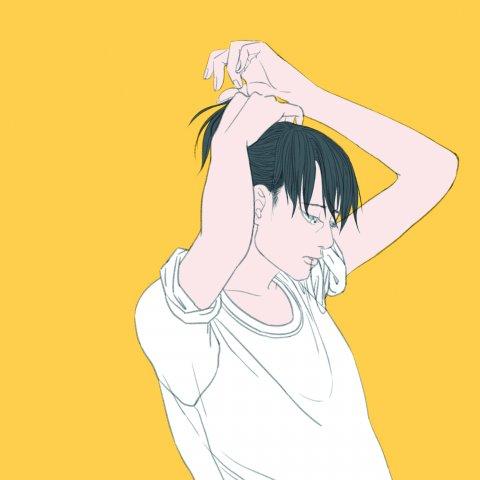 머리 묶는 여자 by nonoru