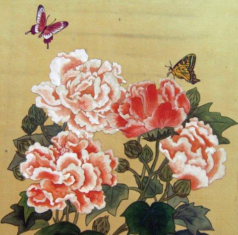 모란과 나비