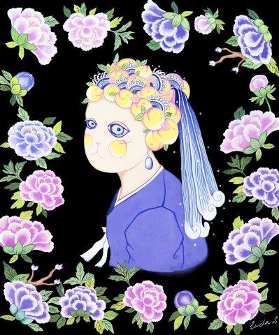 피치캣_진주 귀걸이를 한 소녀