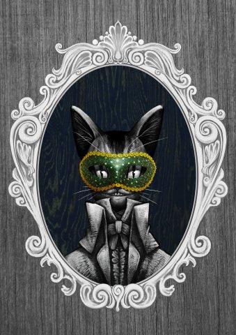 귀족동물 고양이초상화 by 샤누아르