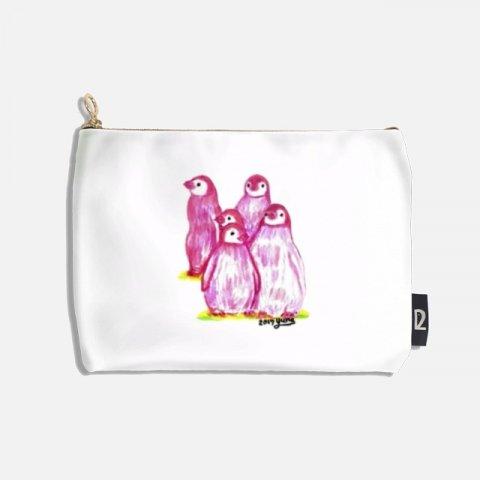 오로라펭귄_Pink Penguins 파우치