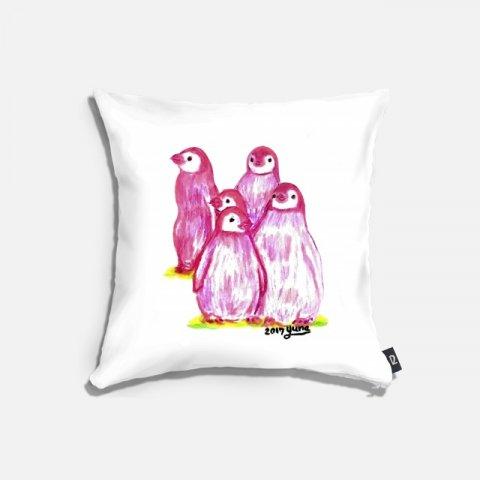 오로라펭귄_Pink Penguins 쿠션