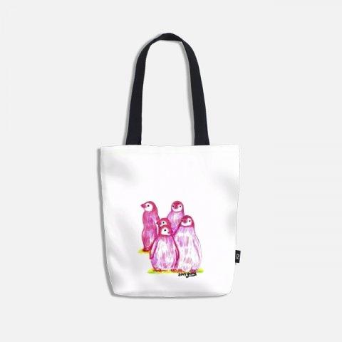 오로라펭귄_Pink Penguins 토트백