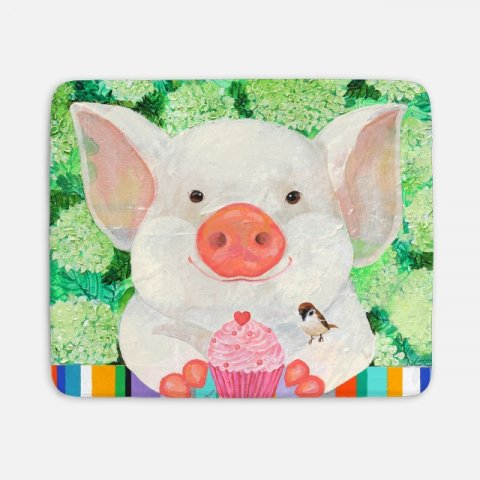 happy pig 담요