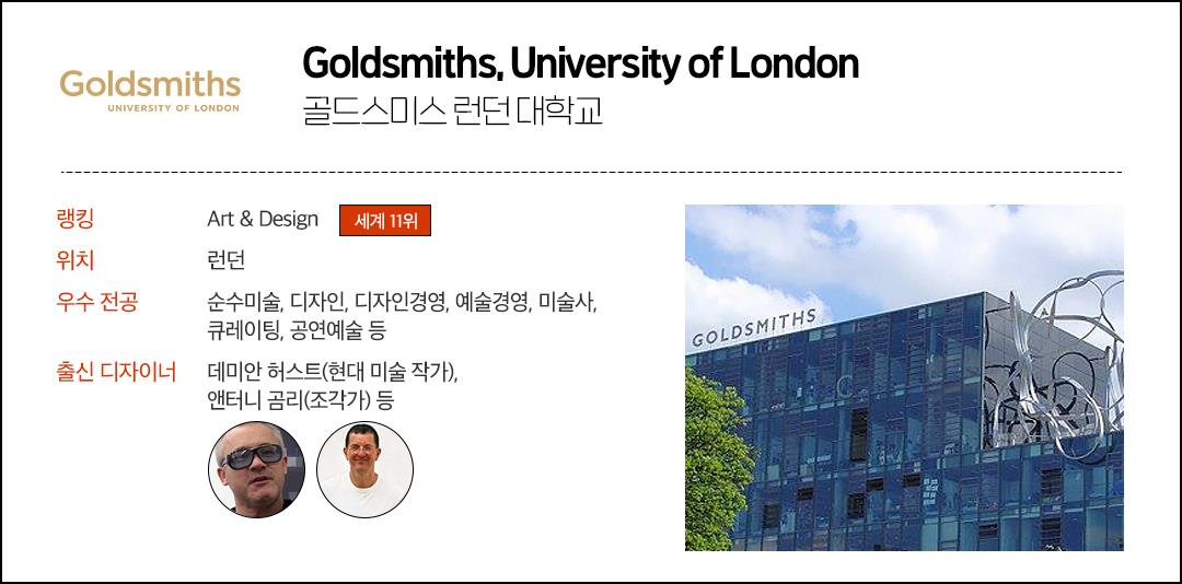 골드스미스 런던 대학교 설명