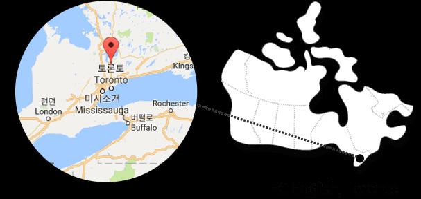 Toronto 에 위치한 EC English를 나타낸 지도