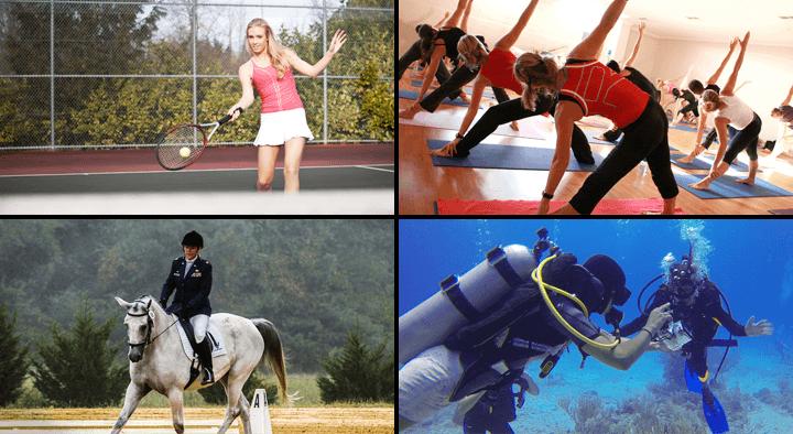 다양한 스포츠 활동