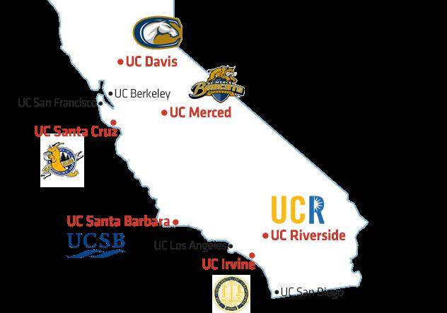 TAG 제도를 통해 지원가능한 UC 대학 위치