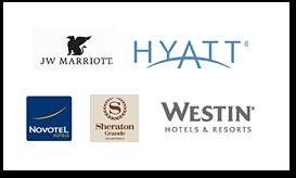 JW Marriote / HYATT / NOVOTEL / Sheraton / Westin hotel & resort 등