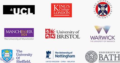 UCL/KINGS/MANCHESTER/BRISTOL/WARWICK/Sheffield/Nottingham/BATH 대학 로고