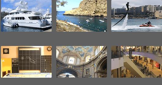 수도 발레타 페리, 고조 섬 투어, 플라이보드 체험, 라스카리스 워 룸(전쟁박물관), 홀리 트리니티 교회, 더 포인트 쇼핑몰