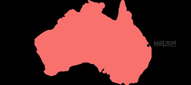 브리즈번을 나타낸 지도