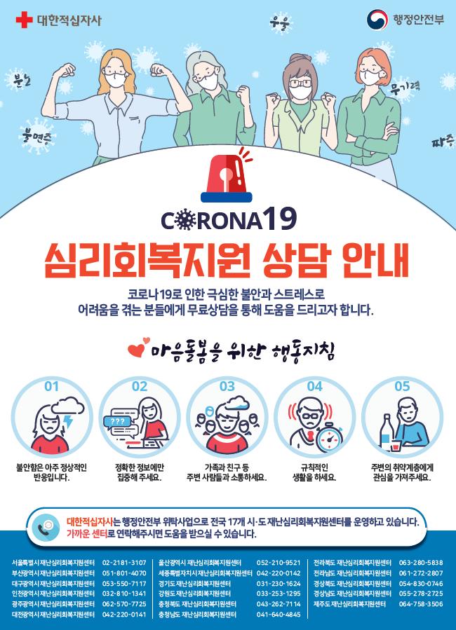 코로나19 재난심리회북지원 상담