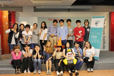 ▲ oo실험실에 참가한 학생들과 희망제작소 연구원들