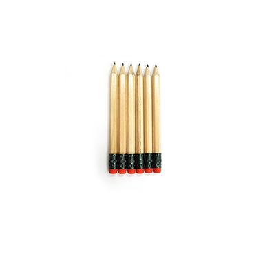 원목육각몽당지우개연필