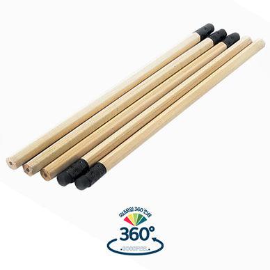 원목육각지우개연필