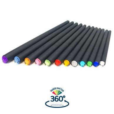 12탄생석흑목보석연필
