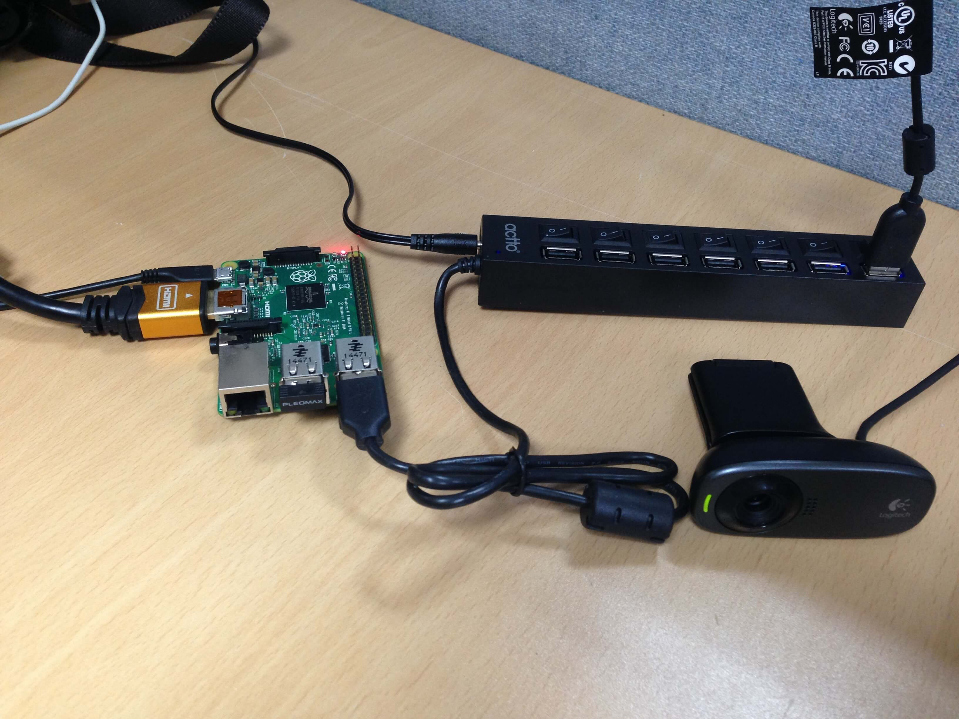 5  From raspberrypi2 to USB webcam - 1) Video streaming
