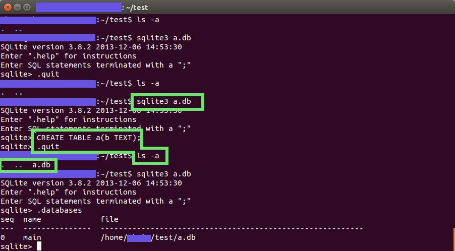 프로그램 시작할 때 데이터베이스 만들기