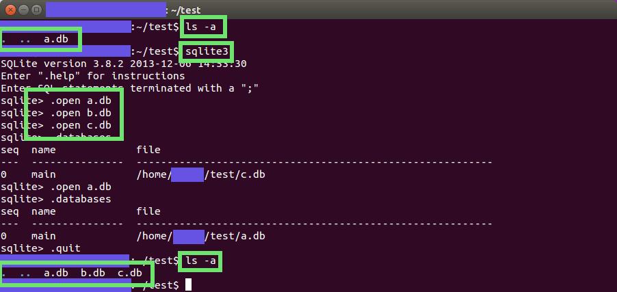 프로그램 실행중에 데이터베이스 만들거나 불러오기