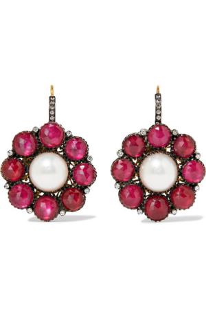 Amrapali 귀걸이 14-karat gold and sterling silver multi-stone earrings 954195 트렌비 - 국내 최대 명품 할인 쇼핑몰, 믿을 수 있는 철저한 검수 시스템, 100% 정품 - 웹