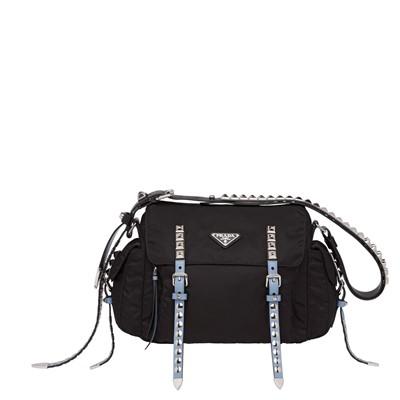 70448f4b1460 공식홈페이지제품 프라다 숄더백 가방 블랙 나일롱 Prada Black Nylon shoulder bag BLACK+ASTRAL BLUE  1BD118 2BYB F0KKT V TBO