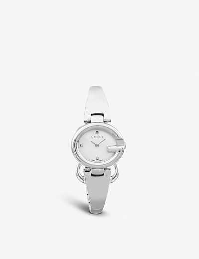e83354d25bd 공식셀렉트샵제품 구찌 다이아몬드 시계 스틸 YA134504 Guccissima stainless steel and diamond  watch 3228511