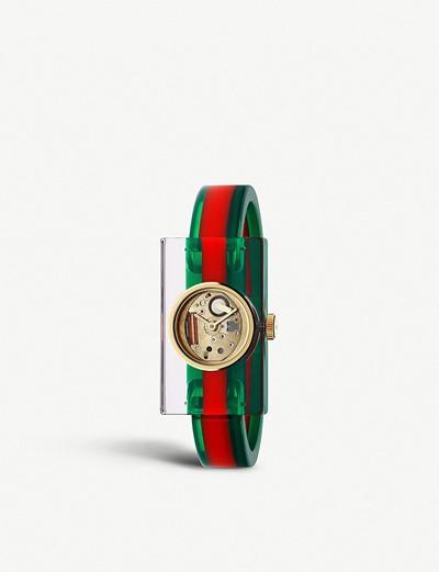 e167520a4c1 공식셀렉트샵제품 구찌 시계 YA143503 Fashion Capsule Plexiglas transparent watch 5118949