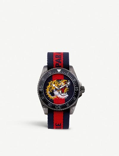 4db9055d114 공식셀렉트샵제품 구찌 시계 스틸 나일롱 YA136215 Gucci Dive stainless steel and nylon watch  5647607
