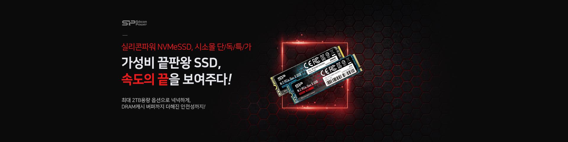 [실리콘파워] NVMe SSD 시소몰단독특가