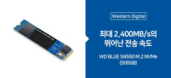 [Western Digital] WD BLUE SN550 M.2 NVMe (500GB)