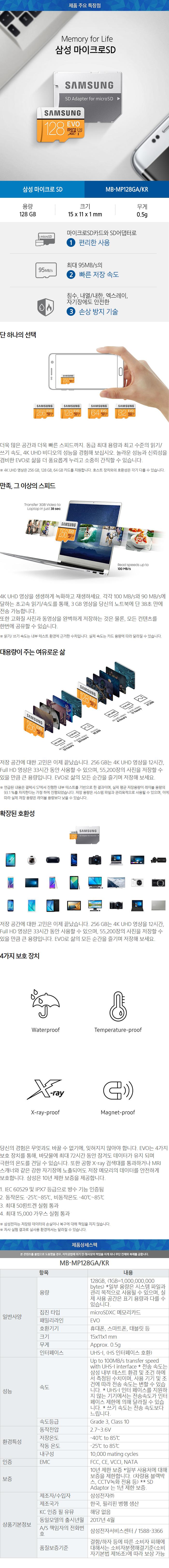 [삼성전자] Micro SD카드 EVO 128GB
