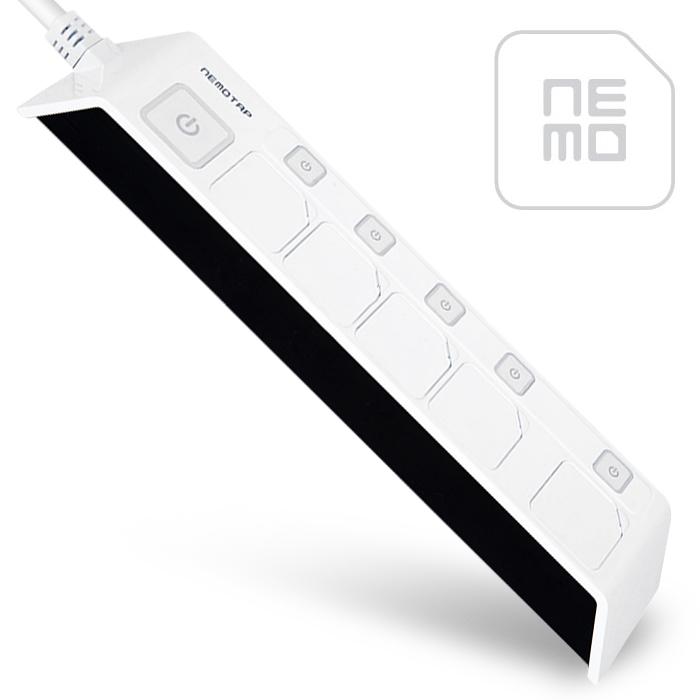 [에스와이폴리텍] 네모탭 메인 개별 스위치 5구 접지 멀티탭 16A 3M [블랙]