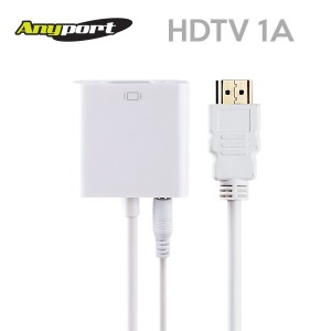 [Anyport] 애니포트 HDMI to VGA(RGB) 컨버터 오디오지원 [AP-HDTV1a]