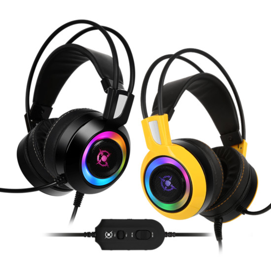 [COX] CH60 리얼 7.1 진동 RGB LED(옐로우)