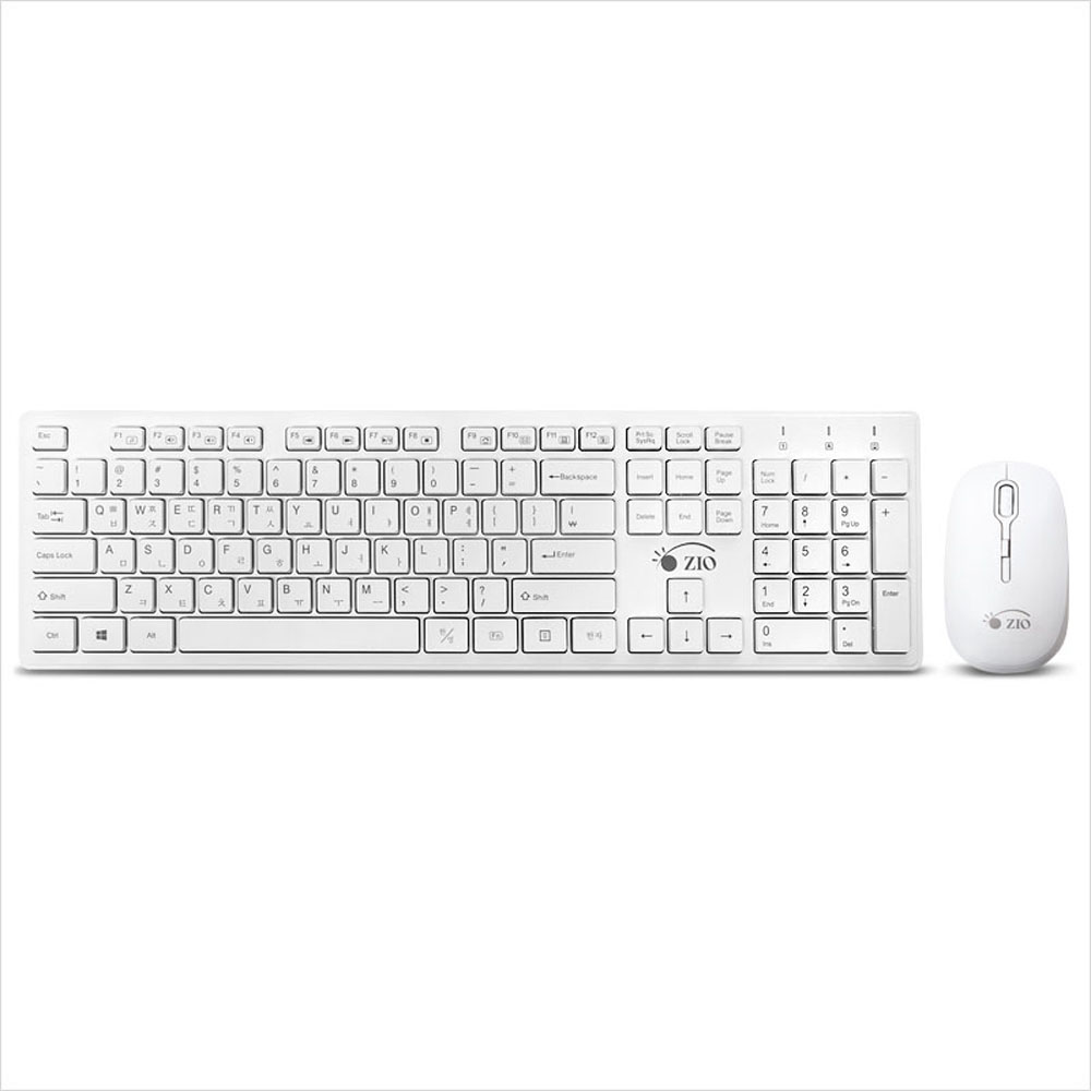 [블레스정보통신] 무선 키보드 마우스 세트 ZIO KMW4030 [화이트]
