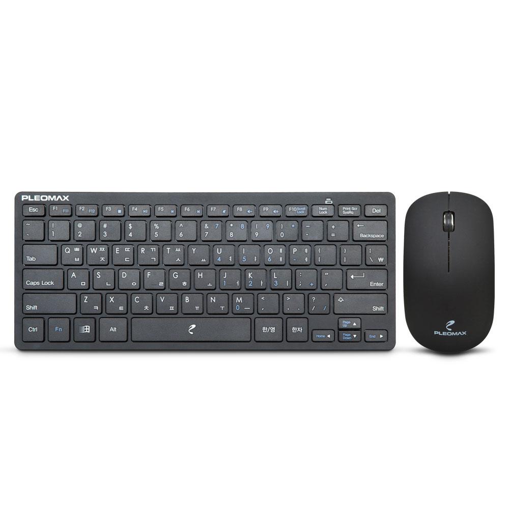 [PLEOMAX] AVEC-101M 무선 미니 키보드 마우스 세트 (블랙)