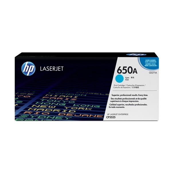 [HP] 정품토너 No.650A CE271A 파랑 (CP5525dn/CP5525n/CP5525xh/M750dn/15K/15,000매)