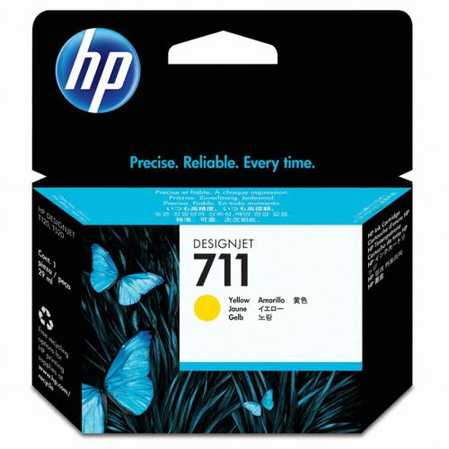 [HP] 정품플로터잉크 No.711 CZ132A 노랑 (DesignJet  T120/T520, 29ml)
