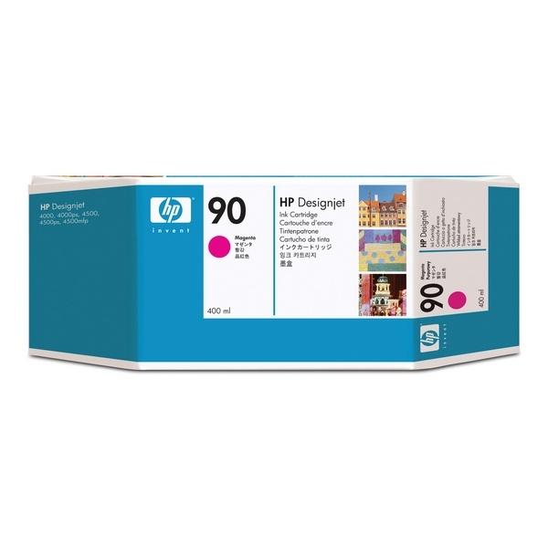 [HP] 정품플로터잉크 No.90 C5063A 빨강 (DesignJet  4000 Series, 400ml)