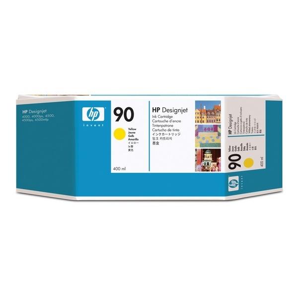 [HP] 정품플로터잉크 No.90 C5065A 노랑 (DesignJet  4000 Series, 400ml)