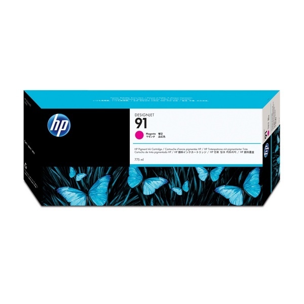 [HP] 정품플로터잉크 No.91 C9468A  빨강 (DesignJet  Z6100, 775ml)