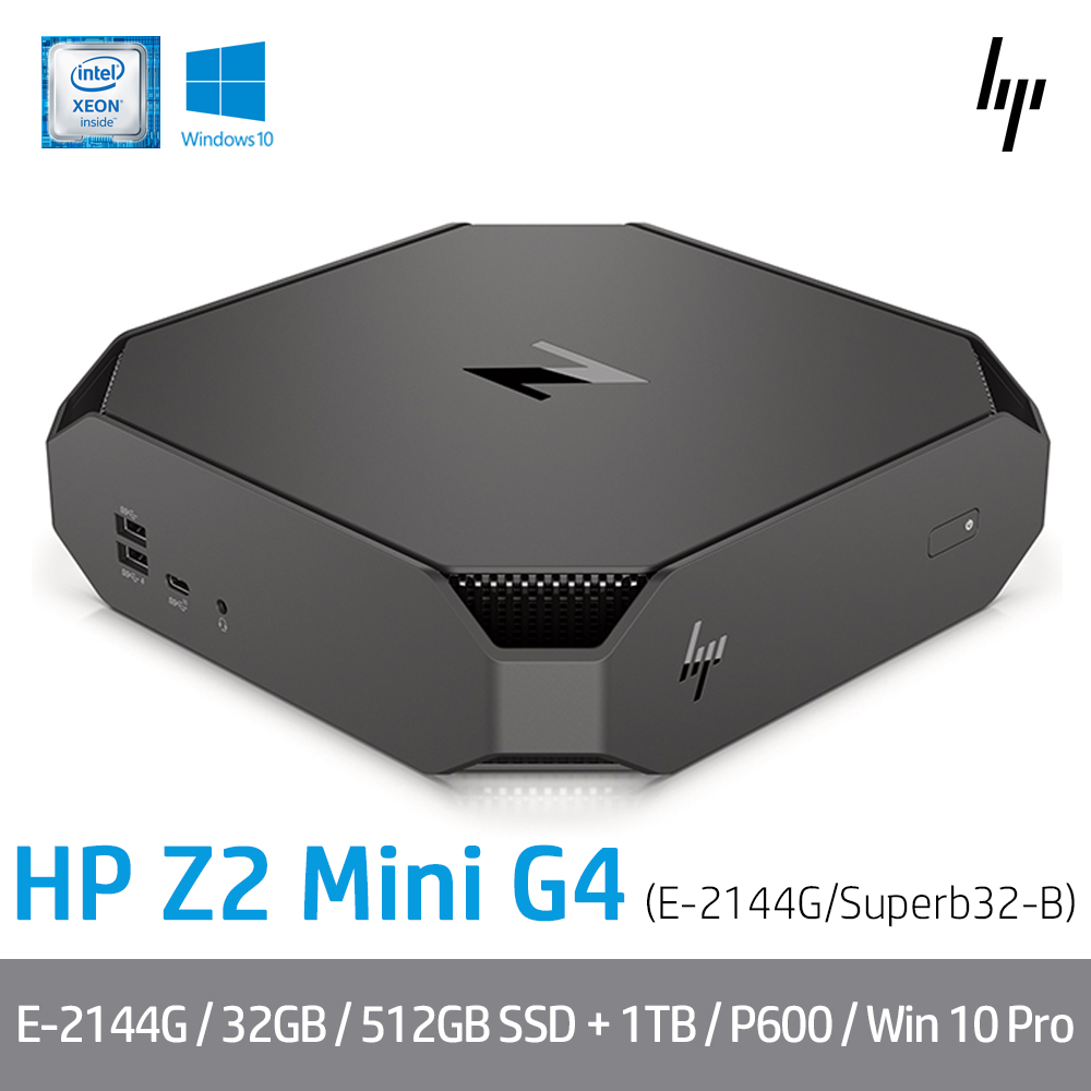[HP] Z2 Mini G4 3AQ05AV Superb32-B [E-2244G/RAM 32GB/NVMe 512GB/HDD 1TB/P600/Windows 10 Pro]