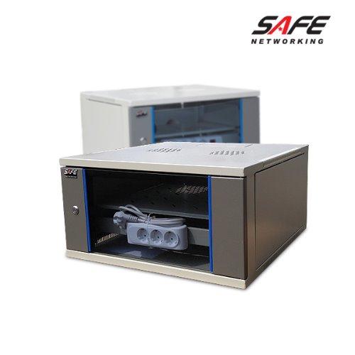 [세이프네트워크] 허브랙 HPS-280H (CCTV랙) 5U (H 280 * D 560 * W 540mm, 20Kg) 전면선반 / 4구멀티탭 / 케이지너트