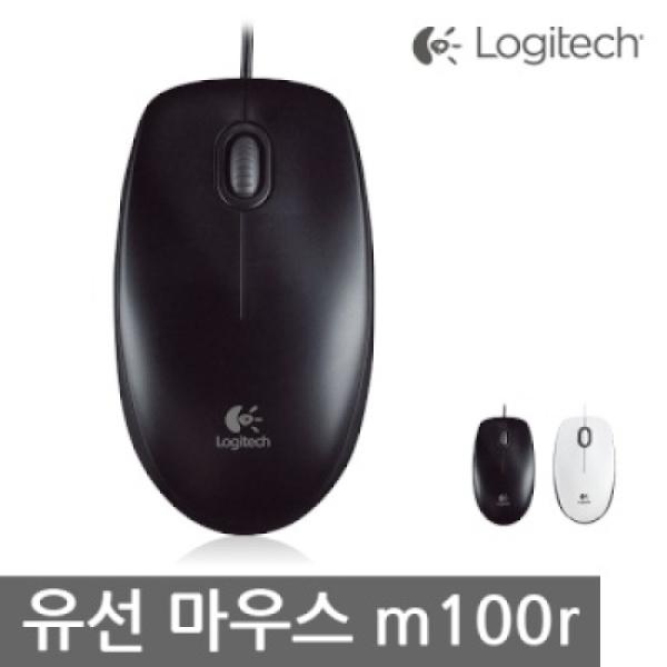 [로지텍] 유선 광 마우스 M100R (블랙)