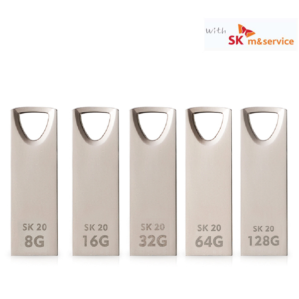 [액센] 액센 with SK SK20 USB2.0 메탈 메모리 8GB