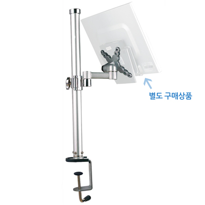 [Coms] LCD 모니터 거치대 - 기둥고정형/ 최대 13.6Kg/ 높이 조절/ 360도 Swivel