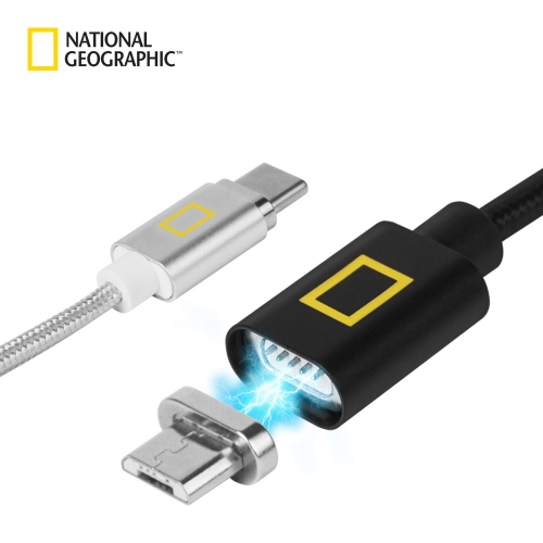 [내셔널지오그래픽] 마그네틱 USB 케이블 - C타입 (블랙)