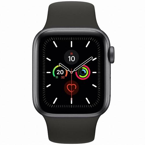 [애플] 애플 워치 시리즈5 GPS, 40mm (스페이스그레이 알루미늄 케이스/블랙 스포츠 밴드) [MWV82KH/A]