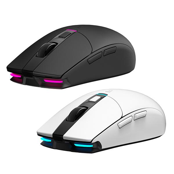 [ABKO] HACKER A250W 3335 RGB 무선 게이밍 마우스 (화이트)